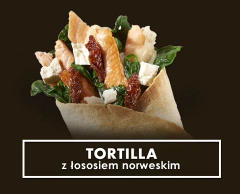 tortilla z łososiem north fish